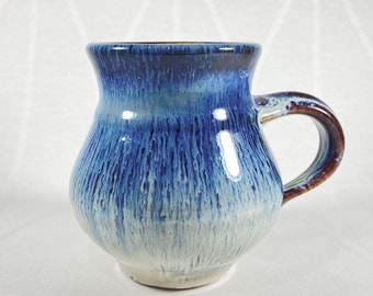Blue Handmade Mug - Handcrafted in the USA, Bill Campbell Pottery