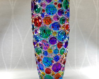 Venetian Glass Vase - Handmade in Italy, Colorful Murano Glass Vase