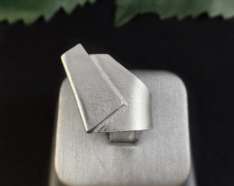 Large Silver Statement Ring - Handmade in Canada, Anne-Marie Chagnon Jewelry