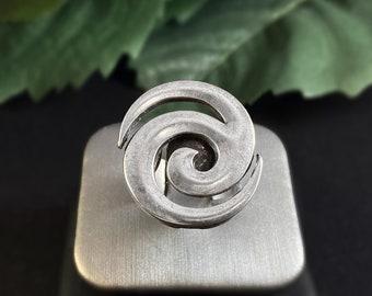 Handmade Silver Spiral Swirl Ring - Nickel Free Ulla Jewelry