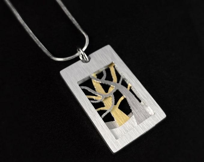 Handmade Aluminum Tree Necklace, Hypoallergenic Lightweight - JR Franco Jewelry