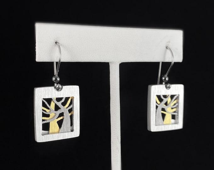 Handmade Aluminum Tree Earrings, Hypoallergenic Lightweight - JR Franco Jewelry