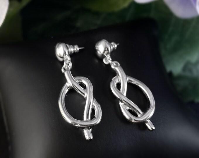 Silver Pretzel Earrings - Handmade Nickel Free Ulla Jewelry