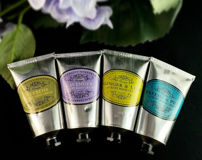 Luxury Hand Cream - Lavender, Verbena, Freesia and Pear, Ginger and Lime - Cruelty free, no animal testing