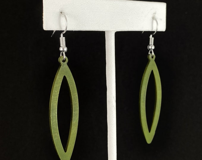 Flexible Lightweight Earrings - Olive