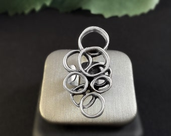 Handmade Silver Bubble Ring - Nickel Free Ulla Jewelry