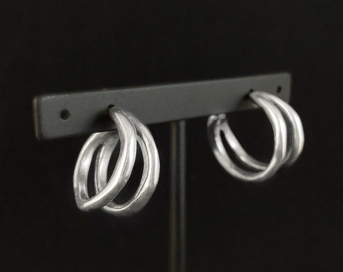 Small Silver Hoop Earrings - Uno de 50 Jewelry