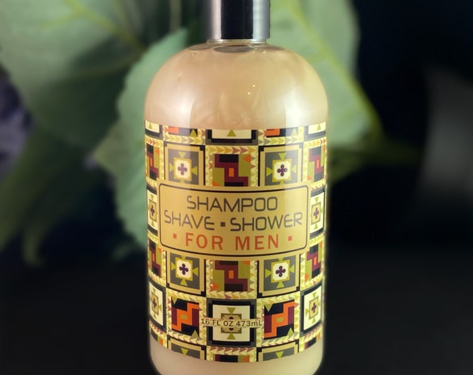 Gift for Men - Shampoo, Shave, Shower in One, Made in USA
