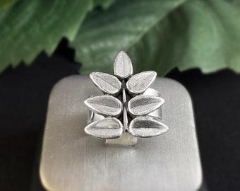 Handmade Silver Leaf Ring - Nickel Free Ulla Jewelry