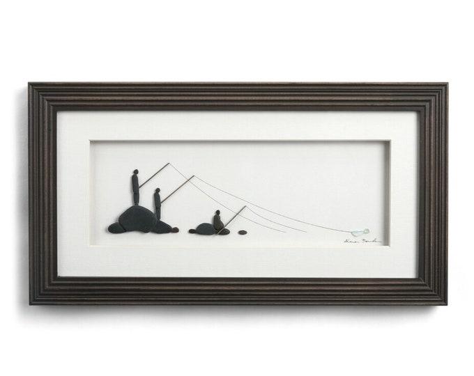 Our Fishing Spot, Sharon Nowlan Pebble Art
