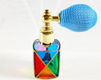 Venetian Glass Perfume Bottle - Handmade in Italy, Colorful Murano Glass, Multiple Styles