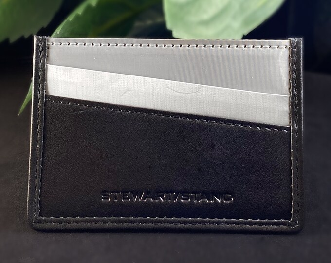 Stainless Steel and Leather RFID Protection Card Holder