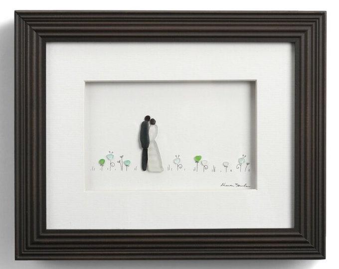 Love in Full Bloom, Sharon Nowlan Pebble Art