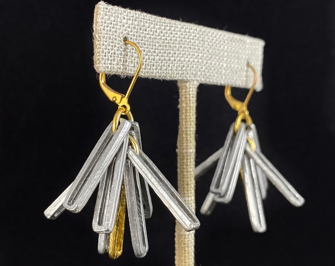 Silver and Gold Earrings - Handmade in Canada, Anne-Marie Chagnon Jewelry