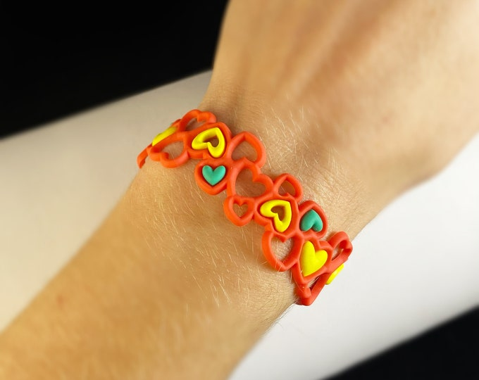 Flexible and Lightweight Bracelet for Kids - Nickel-free, Latex-free, Handcrafted from Recyclable Materials