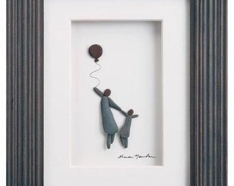 Big and Little, Sharon Nowlan Pebble Art