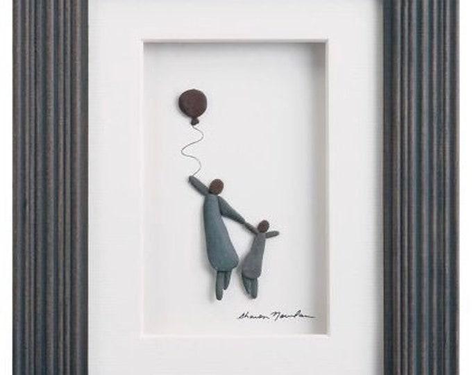 Big and Little, Sharon Nowlan Pebble Art