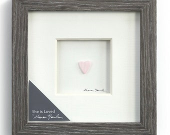 She is Loved, Sharon Nowlan Pebble Art