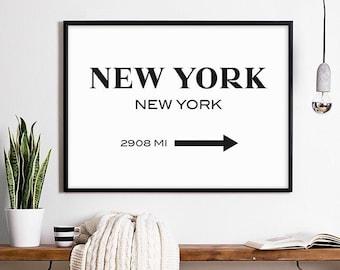 Nyc Subway Map Bedroom Wall Decal.New York Wall Art Etsy