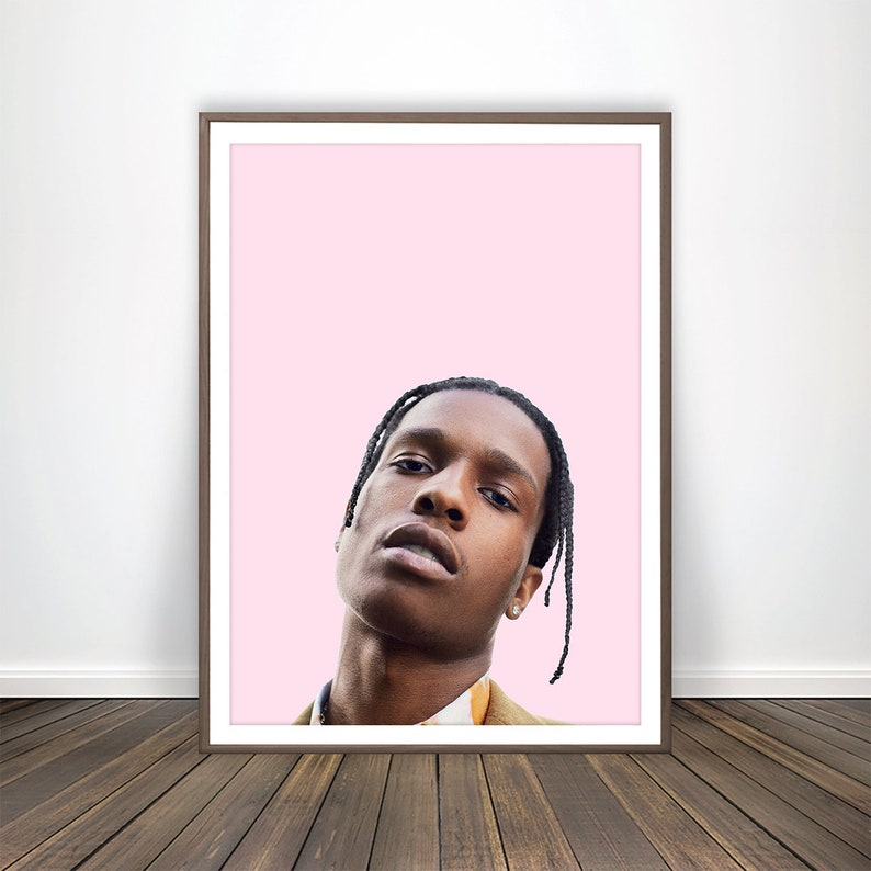 ASAP Rocky Poster Hip Hop Art ASAP Rocky Art Hip Hop Print Hip Hop Poster  Asap Rocky Guess Asap Mob Merch Hip Hop Decor ASAP Rocky Wall Art