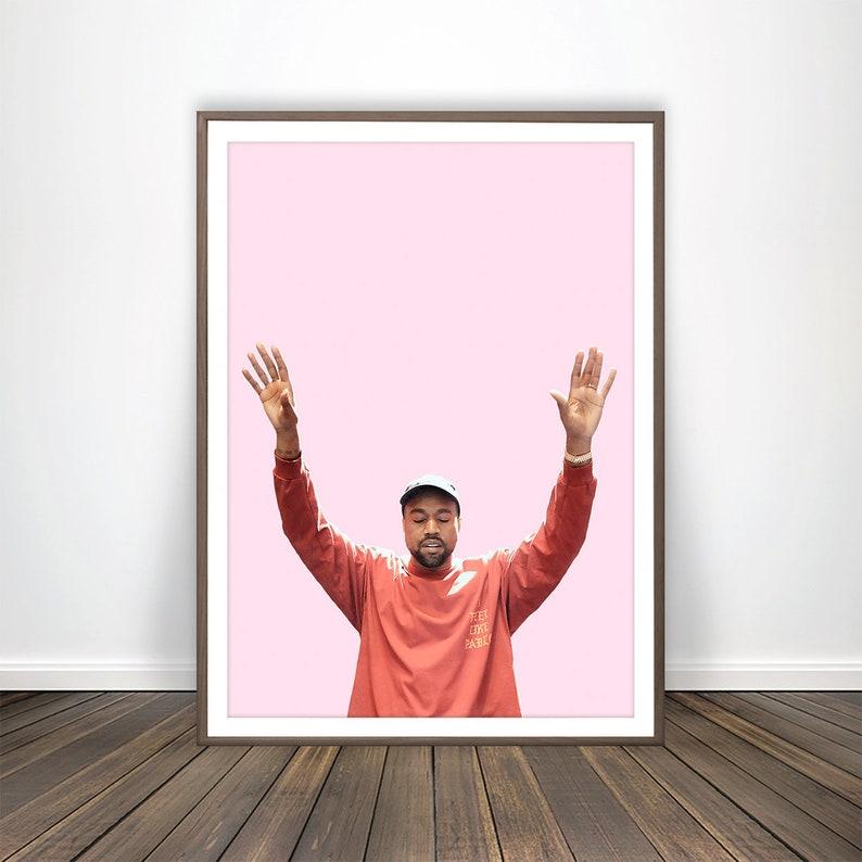 7f0ca5dd714e2 Kanye West Poster I Feel Like Pablo Poster Kanye West Print Hip Hop Poster  Hip Hop Wall Art Kanye West Merch Yeezy Poster Hip Hop Print Art