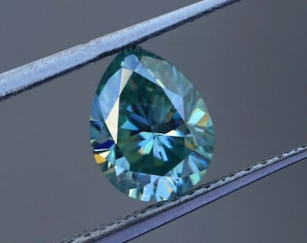 3.00 Ct Radiant Excellent Cut For Jewelry Loose Moissanite  Blue VVS1 0.77 Ct