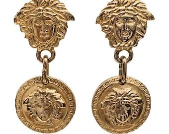 13101437800 Vintage Gianni Versace Medusa clip on earrings