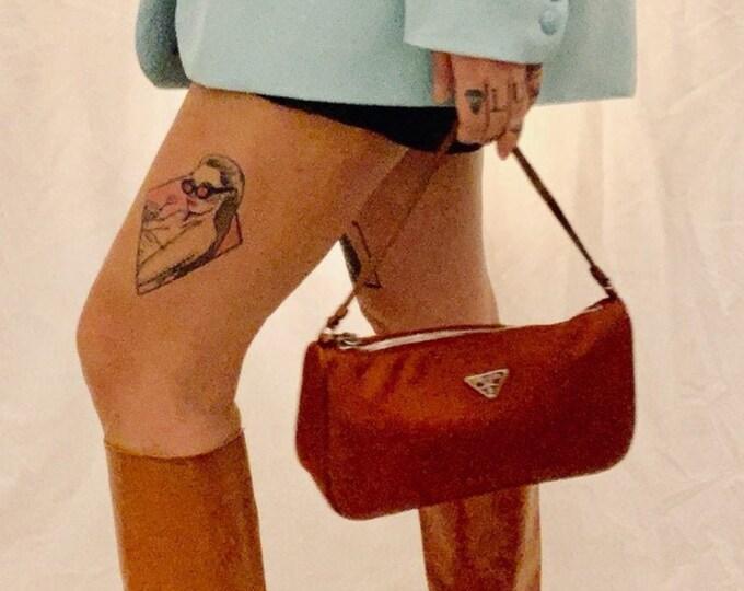 Featured listing image: RARE FIND vintage 90s Prada teasuto mini handbag in rusty orange very good condition