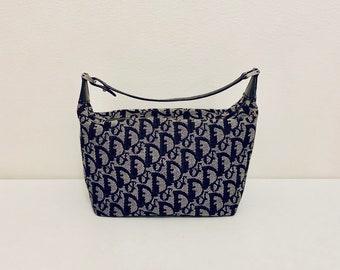 VERY RARE vintage Dior black monogram canvas mini pouch bag