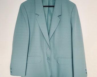 RARE FIND vintage 80s Danish brand Brandtex oversized blazer in turquoize size 36-42