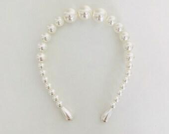 WEDDING MUST HAVE faux pearl tiara/headband bridal bridesmaid hair accessories