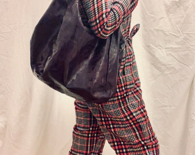 Featured listing image: VERSATILE Givenchy Nightingale Sacca Hobo oversized tote bag in eggplant patent leather good condition