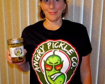 Angry Pickle Co T-Shirt High-Quality Nostalgic and Bespoke Design Rock Some Angry Pickle Swag