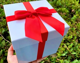 Gift Box with Ribbon and Bow / Animal Crossing Inspired Gift Box