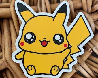 Pikachu Vinyl Sticker - Pokémon / Pokemon Sticker / Laptop Decal / Bumper Sticker / Deck Box / Sun and Moon
