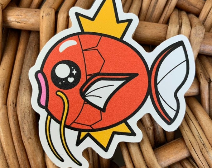 Magikarp Vinyl Sticker - Pokémon / Pokemon Sticker / Laptop Decal / Bumper Sticker / Deck Box / Sun and Moon