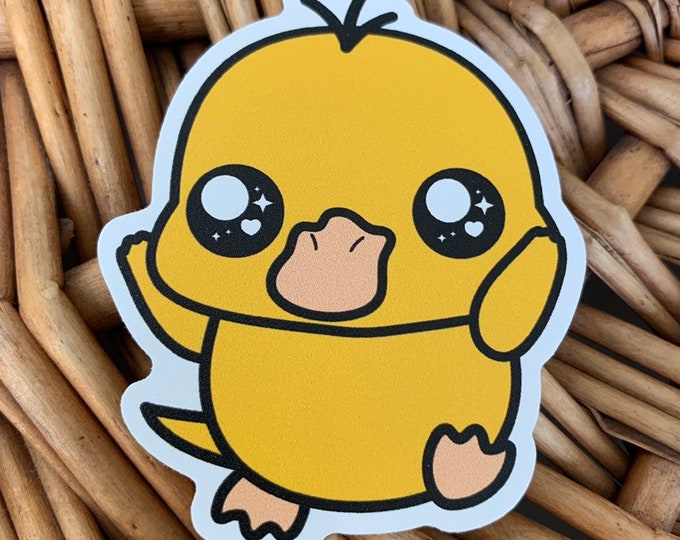 Psyduck Vinyl Sticker - Pokémon / Pokemon Sticker / Laptop Decal / Bumper Sticker / Deck Box / Sun and Moon