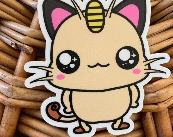 Meowth Vinyl Sticker - Pokémon / Pokemon Sticker / Laptop Decal / Bumper Sticker / Deck Box / Sun and Moon