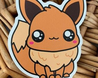 Eevee Vinyl Sticker - Pokémon / Pokemon Sticker / Laptop Decal / Bumper Sticker / Deck Box / Sun and Moon