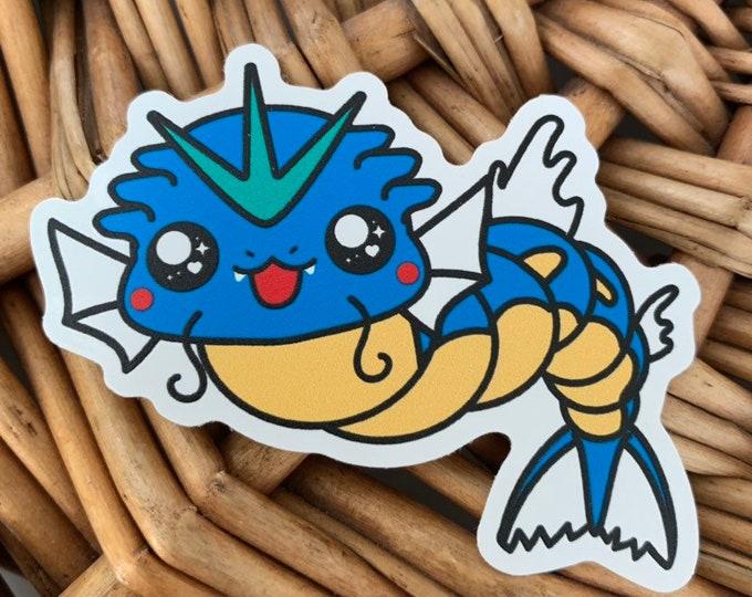 Gyrados Vinyl Sticker - Pokémon / Pokemon Sticker / Laptop Decal / Bumper Sticker / Deck Box / Sun and Moon