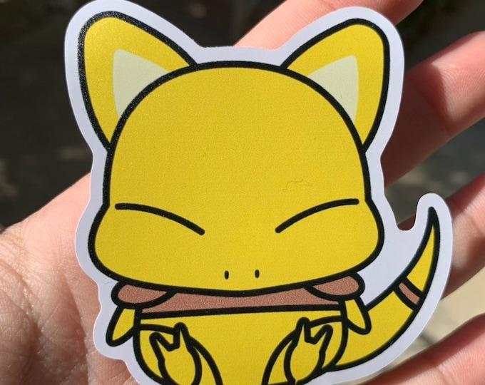 Abra Vinyl Sticker - Pokémon / Pokemon Sticker / Laptop Decal / Bumper Sticker / Deck Box / Sun and Moon