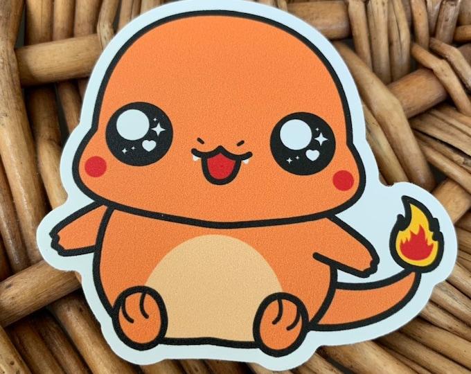 Charmander Vinyl Sticker - Pokémon / Pokemon Sticker / Laptop Decal / Bumper Sticker / Deck Box / Sun and Moon