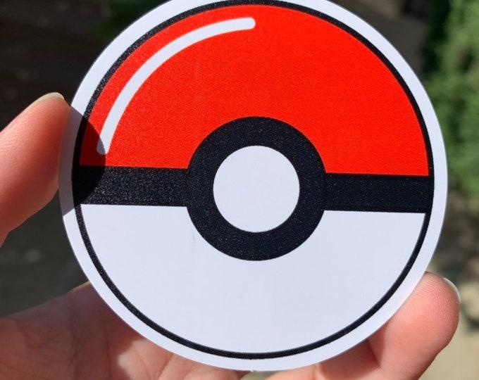 Pokeball Vinyl Sticker - Pokémon / Pokemon Sticker / Laptop Decal / Bumper Sticker / Deck Box / Sun and Moon