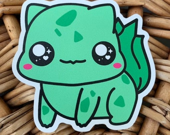 Bulbasaur Vinyl Sticker - Pokémon / Pokemon Sticker / Laptop Decal / Bumper Sticker / Deck Box / Sun and Moon