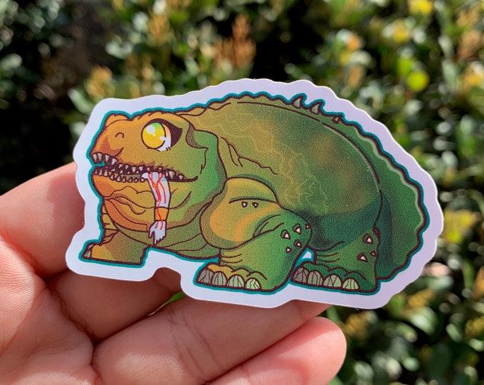 Frog Noms Vinyl Sticker / Laptop Decal / Bumper Sticker / Deck Box/ Netflix
