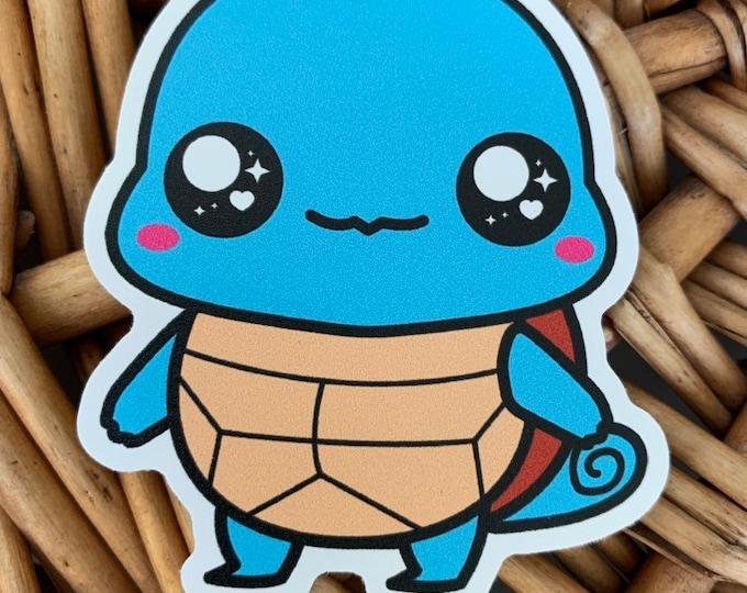 Squirtle Vinyl Sticker - Pokémon / Pokemon Sticker / Laptop Decal / Bumper Sticker / Deck Box / Sun and Moon