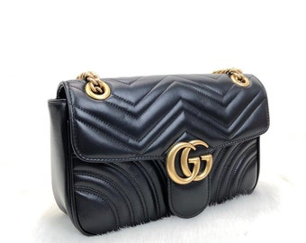 098491418 Leather Marmont Evening Bag, Handmade Bag for Woman,Cross Shoulder Bag