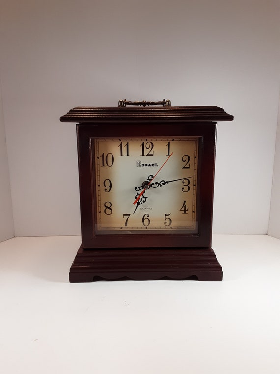 Powell Quartz clock jewelry box