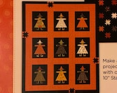 Pieces From My Heart Casual Friday Pattern Halloween Pattern Halloween Quilt Halloween Table Runner Witch Pattern Witch Quilt Pattern Witch