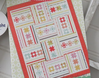 Turnstile Quilt Kit featuring Canning Day by Moda